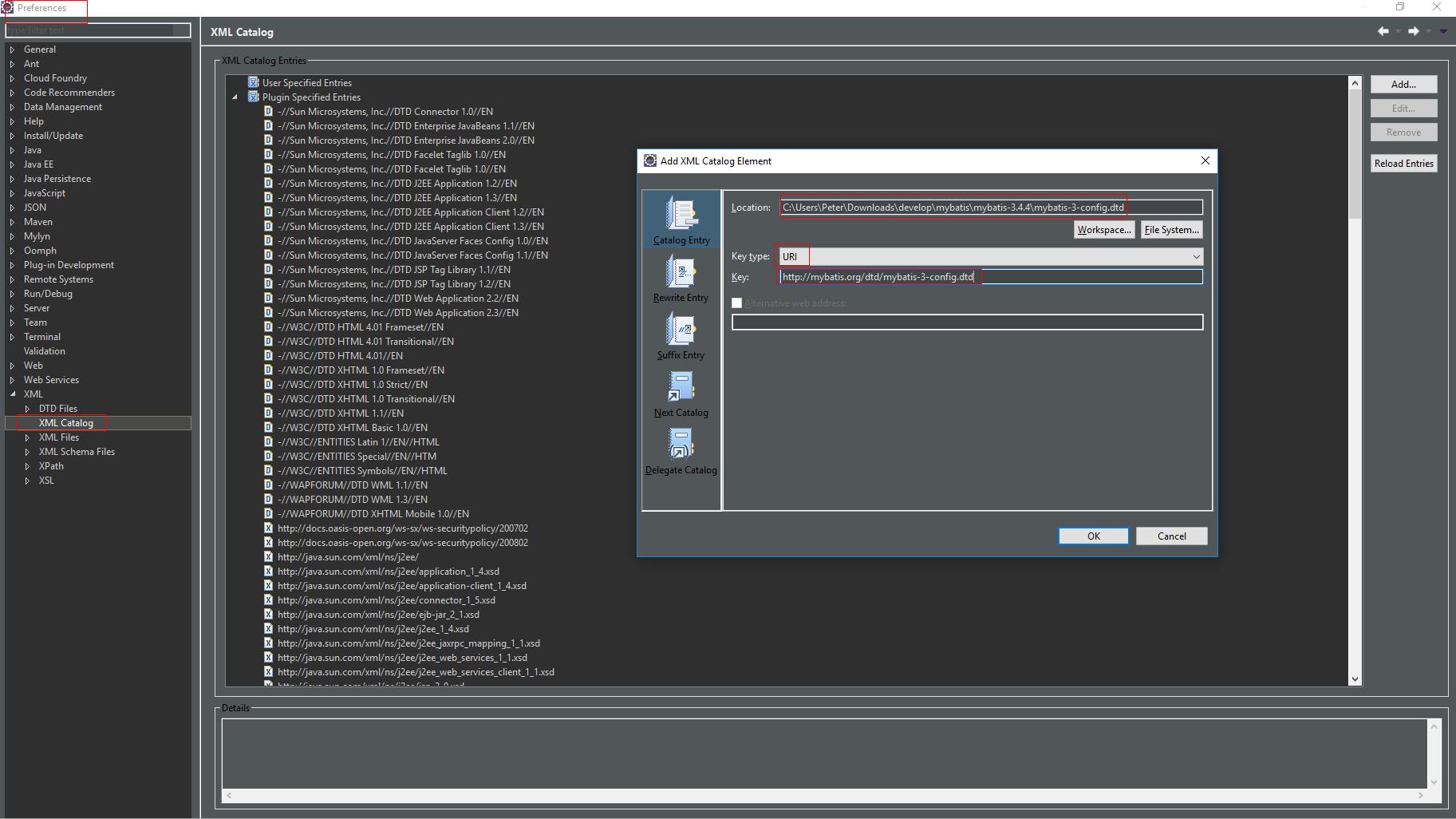 Add XML catalog in Eclipse for coding prompt   Yan's